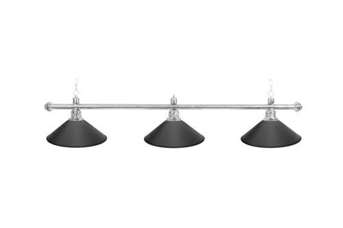 Classic Billard Lampe Blacklight, schwarz, 3 Schirme, Ø 35 cm, 112 cm