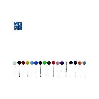 Alco-Albert 612 Landkartennadeln, Durchmesser: 5 x 16 mm, Dose 100 Stück, rot