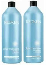 Redken Clear Moisture Shampoo and Conditioner Set 33.8oz 1 Liter by Redken 5th Ave NYC BEAUTY by Red