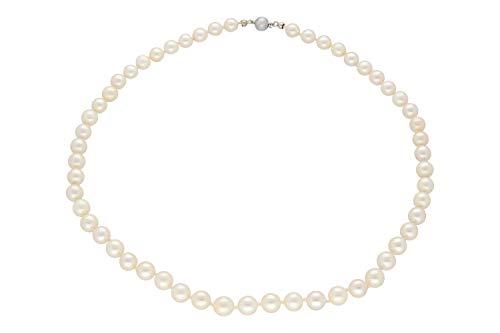 Perlenkette 7mm/46cm mit Kugelschließe AG 925, Akoya-Perle