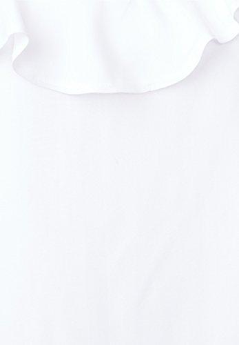 Street One Damen Blusentop mit Volant white (weiss)