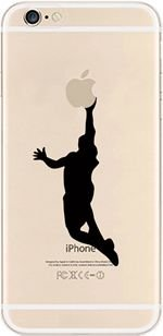 iPhone Fall, Deco Fairy® Schutzhülle Bumper [Kratzfest] [Passgenau] durchscheinenden Silikon Clear Case Gel Cover für Apple iPhone (Basketball Man Jump für iPhone 5 C) (I C Phone 5 Basketball)