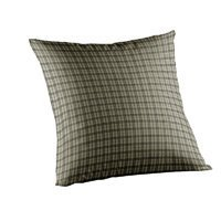 Patch Magic Green Dark With Cream Plaid Fabric Toss Pillow, 16-Inch by 16-Inch by Patch Magic (Cream Patch-magic)