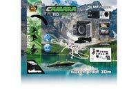 Jamara 177890 Camara Full HD Pro WiFi V2 schwarz - 16MP, 1080p, 170° Weitwinkel, wasserdicht bis 30m, 2 Zoll LCD-Display, Foto/Video Funktion per Smartphone steuern, inkl. sämtlichen Halterungen