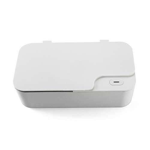 KHSW Mini Ultra Sonic Reiniger 450 ml 40 kHz 15 W Schmuck Gläser Reinigung Maschine Intelligente Steuerung Ultra Sonic Reiniger Bad,White -