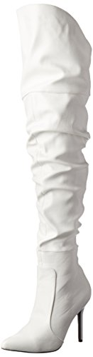 Pleaser CLASSIQUE-3011 Damen Overknee Stiefel Pu Weiß