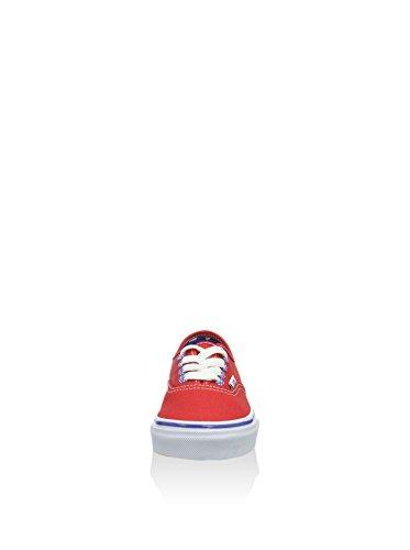 Vans Authentic Scarpe da Ginnastica Basse, Unisex Bambini Rosso (rosso)