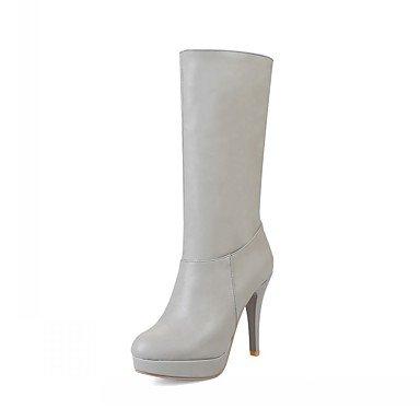 RTRY Scarpe Donna Pu Similpelle Autunno Inverno Comfort Novità Moda Stivali Stivali Stiletto Heel Round Toe Mid-Calf Stivali Per Party &Amp; Sera US6.5-7 / EU37 / UK4.5-5 / CN37