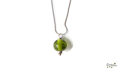Colgante perla vidrio Murano cadena plata - Penjoll