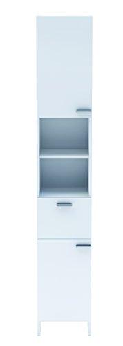 13casa - ariel a3 - mobile bagno. dim: 33x34x185 h cm. col: bianco. mat: melamina.
