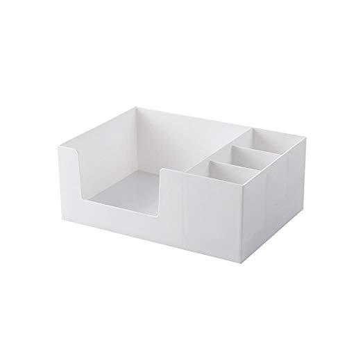 3-schubladen-desktop (XIAOZHOU Kosmetische Aufbewahrungsbox Abnehmbare Doppel Kunststoff Aufbewahrungsbox Desktop Make-up Aufbewahrungsbox Kosmetik 3 Schubladen Lippenstift Halter Container Whitesingle Layer)