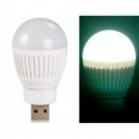 Ball Bulb Shaped Super Bright USB Powered Mini LED Night Light (Multi Color)