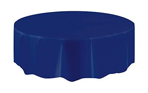 Unique Party - 50384 - Nappe Ronde en Plastique - 2,13 m - Bleu Marine