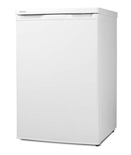 MEDION MD 13854 Kühlschrank (130 Liter, 85cm Höhe, unterbau-fähig, Glasablagen, 91 kWh/Jahr) weiß