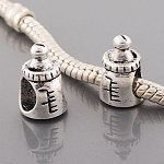 Antik Silber Design Baby Flasche Charm Bead für Pandora Style Armbänder