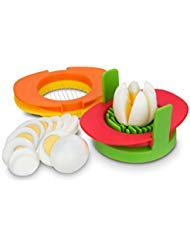 Eierschneider Set mit 3 Ausstechformen - 3 in 1 Edelstahldraht, schneiden Sie gekochte Eier in dünne Scheiben, Keile oder Hälften, gekochte Eier oder Früchte Schneider