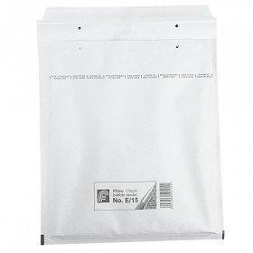 Luftpolstertaschen E15, 240x270mm Passend für 3 x 14mm Oder 6 x 7 mm DVD-Hüllen, 100 Stück, Weiß