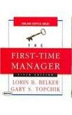 First Time Manager Unabridged Cd The Belker Topchik