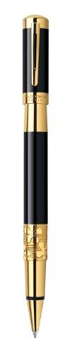 Waterman S0898650 Tintenroller Elegance G.C, Strichbreite F, Schreibfarbe schwarz