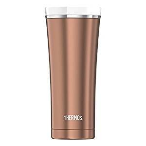Thermos 4004.284.047 Isolierbecher Premium, 0,47 L, Edelstahl, rosé gold/weiß, 8,9 x 8,9 x 20,3 cm