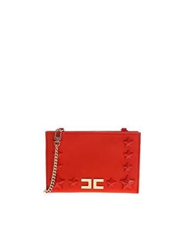Elisabetta Franchi Borsa A Spalla Rosso Corallo con Logo EFBO250096TE038 Rosso