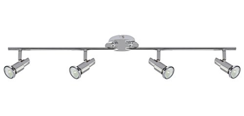 Trango 4-flammige LED Deckenleuchte TG2890-048SD inkl. 4x 5 Watt dimmbare LED Leuchtmittel GU10 3000K warmweiß Deckenstrahler Deckenlampe Spots -
