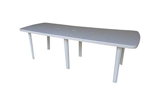 Shaf Kunststoff Gartentisch Eflor Weiß, 160/240 x 90 x 72 cm, ausziehbar, Made IN Spain