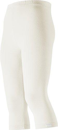 Playshoes Mädchen Legging Capri verschiedene Farben, Oeko-Tex Standard 100, Gr. 116, Weiß (weiß 1)