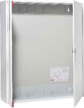 Abb-entrelec - Armario distribuidor superficie ip43 2/4a puerta metalico/a blanco