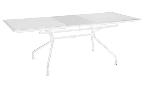 Table extensible Athena Emu cm. 160 + 50 x 90 couleur blanc mat. Code 23