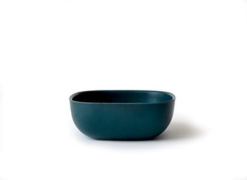 EKOBO Müslischale, 15 x 15 x 5,5 cm cm, blue abysss, aus Bambus / Melamin, FSC-zertifiziert, BPA-frei, spülmaschinengeeignet