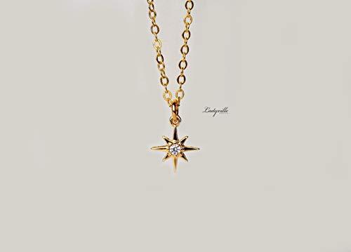 Stern Kette Gold - Polarstern/Geschenk für Sie/besonderes Geschenk/Statement Schmuck/Astrologie schmuck/Geburtstag Geschenk