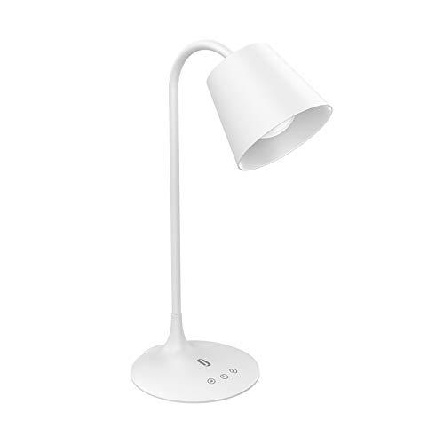 LED Schreibtischlampe TaoTronics Tischlampe 3 Farbmodi, Stufenweise Abdunkelung mit traditionellem Glühbirnen-Design, Energie-Effizient, Touch-Bedienung, 1-Stündiger Abschalt-Timer, 180 Grad Biegbar