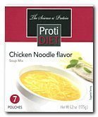 Protidiet Chicken Noodle Flavor High Protein Soup Mix (7 Servings) by Pro-Amino