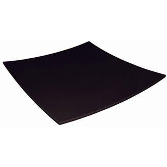 Kristallon Dp142 courbé carré Assiette en mélamine, Noir