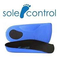 Sole Control Light heel Pad, 3/4 length Orthotic Insoles, Heel Pad, Plantar Fasciitis, Flat feet, Fallen Arches, Pronation (4.5-6.5)