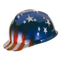 MSA Safety Works 10052945 USA Patriotic Hard Hat by Safety Works