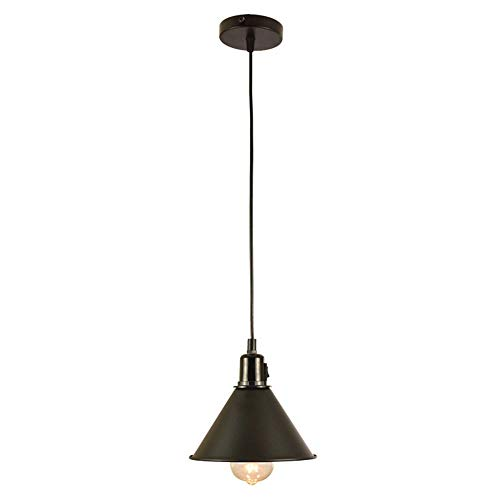 QinWenYan Kronleuchter Industrielle Mini Öl Reiben Bronze Anhänger Single Lamp Küche Restaurant Bar (Color : Black1, Size : 18x18cm) -