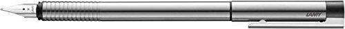 Preisvergleich Produktbild Silber Logo Stahlfeder zyklisches Matte Edelstahl Brunnen Kugelschreiber - Mittelgroß Nib von Lamy