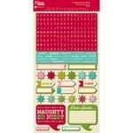 Jillibean Suppenteller 6-inchx12-ZOLL Christmas Cheer Muschelsuppe Grußkartenkarton Alphabet & in Form eines Stickers JB0141 - 6-zoll-craft Buchstaben