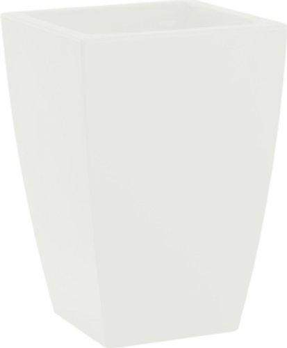 HOWE-Deko Pot de Fleurs, Angle, L40 x H57 x P40 cm, Blanc (diverses Couleurs au Choix), Mate, capacité de 22 litres, pour intérieur et extérieur, Fait de Haute qualité polyéthylène