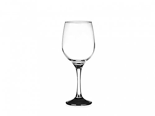 SABLES & REFLETS 6 Verres à vin au Pieds teintés Noir/Verre à vin Rouge, à vin Blanc, Verre à Eau / 250 ML