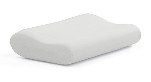 The White Willow Contour Cervical Orthopedic Memory Foam Pillow – 16.5'x 24 x 4', White