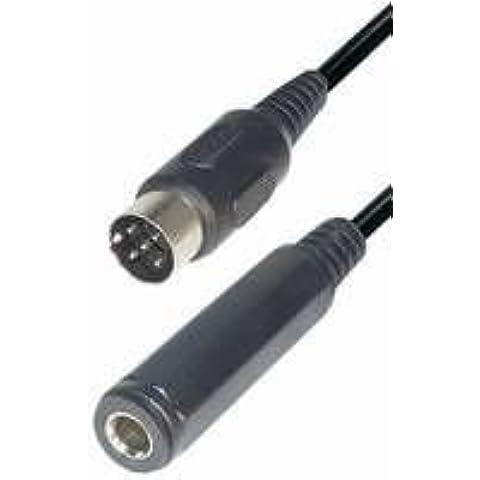Cavo di collegamento dadi maschio–jack 6,3mm stereo 0,2m 4 pz