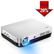 Wowoto Mini beamer, 3D Full HD projector, 1280x 800, ondersteunt 1080p DLP-projector, Android OS, met opzetstuk, HDMI, wifi & Bluetooth