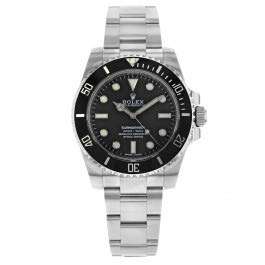 Submariner Black Dial Stainless Steel Automatic Men's Watch