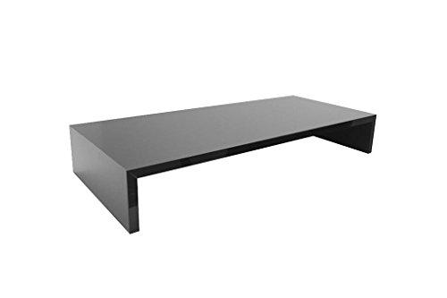 Hermesmöbel Bildschirmerhöhung Monitortisch(TFTGS60) B/T/H 60 x 30 x 12 cm Grau Bildschirm Ständer (Licht-holz-tv-ständer)
