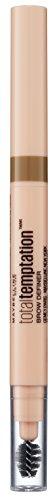 Maybelline Total Temptation Brow Definer Nr. 100 Blonde, 2-in-1 Augenbrauenstift, für sanft definierte, aufgefüllte Augenbrauen, präzise Spitze und Bürste zum Verblenden, hochpigmentierte Formel