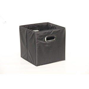 Mondex EVE718-01 Panier de Rangement Cubique Modèle M Plastique/Tissu Noir 29 x 30 x 2 cm