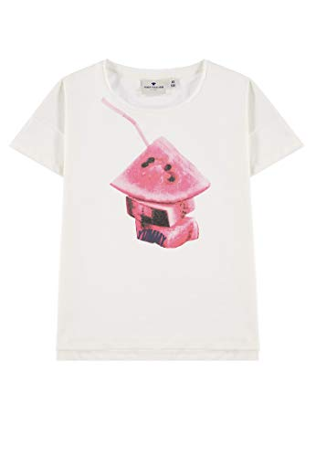 TOM TAILOR Kids Mädchen Placed Print T-Shirt Weiß (Cloud Dancer 1610), Herstellergröße: 164 - Dancer Kinder-t-shirt